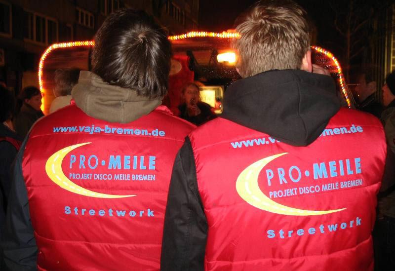 Nachts auf der Bremer Diskomeile